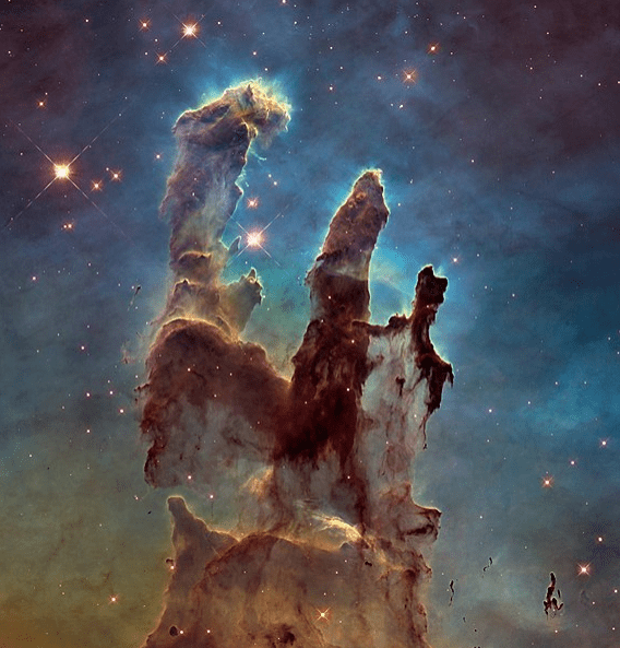 Photo: one of the Hubble Space Telescope's most famous images, Pillars of Creation, shows stars forming in the Eagle Nebula (2014 image)
