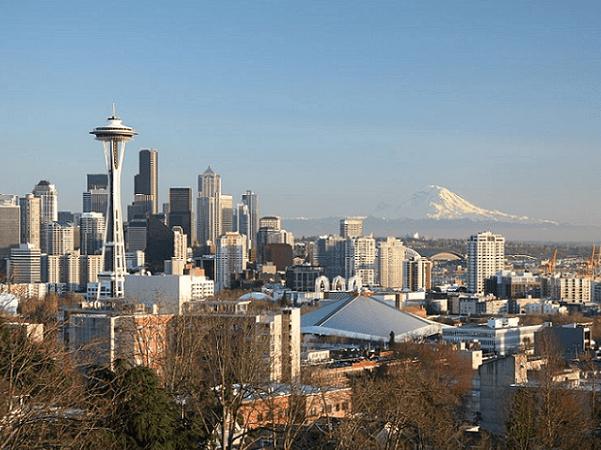 Photo: Seattle, Washington. Credit: Daniel Schwen; Wikimedia Commons.