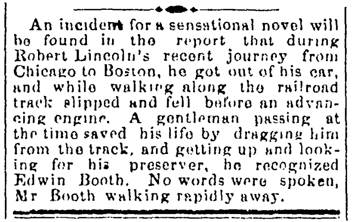 An article about Edwin Booth, Virginian-Pilot newspaper article 4 January 1869