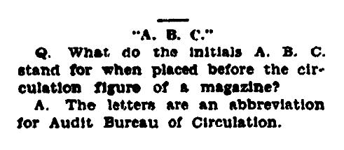 An article about an acronym, Arkansas Gazette newspaper article 9 September 1927