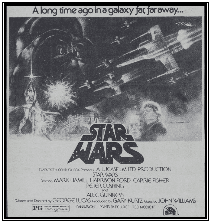 "An ad for the movie ""Star Wars,"" Daily Northwestern newspaper advertisement 13 May 1977"