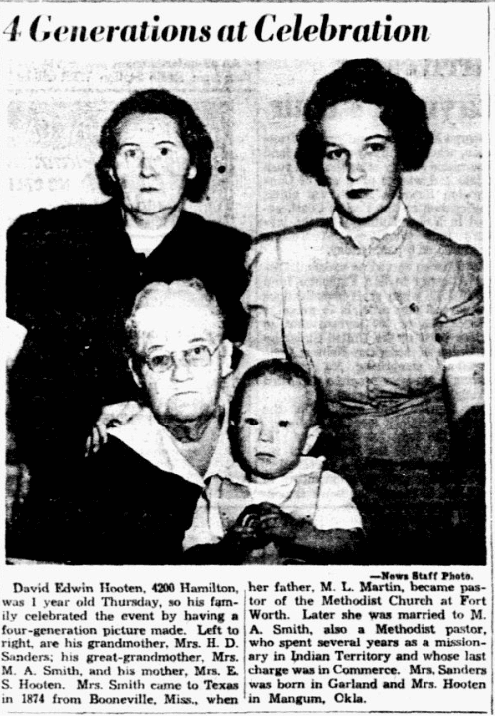 An article about a family reunion, Dallas Morning News newspaper article 5 May 1939
