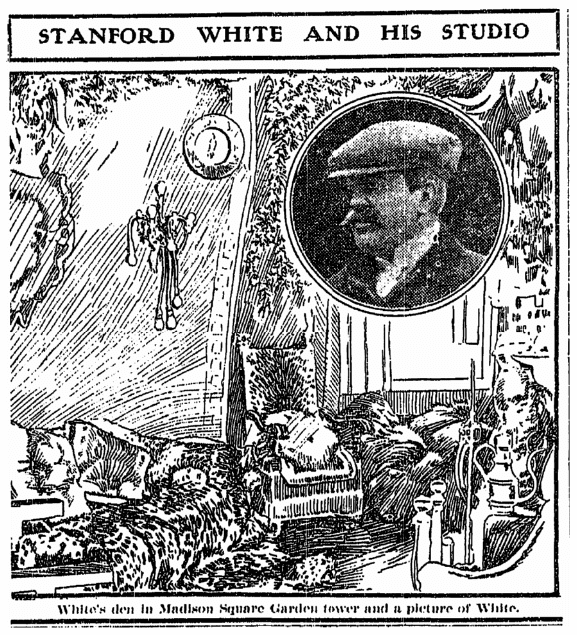 An article about Stanford White, Grand Rapids Press newspaper article 8 February 1907