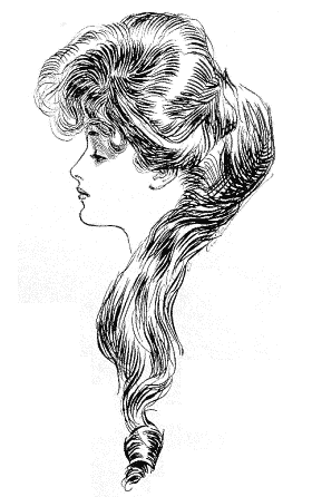 "Illustration: ""The Eternal Question"" by Charles Dana Gibson, using Evelyn Nesbit as a model, c. 1901"