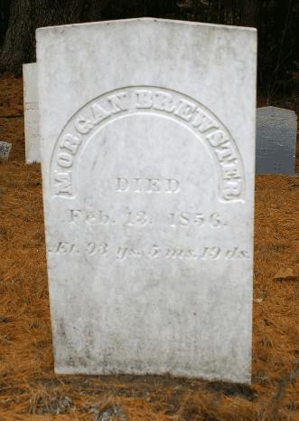 Photo: gravestone of Morgan Brewster, Additon Cemetery, Leeds, Androscoggin County, Maine