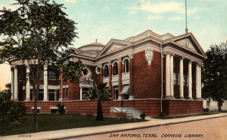 Photo: Carnegie Library, San Antonio, Texas, c. 1900-1924