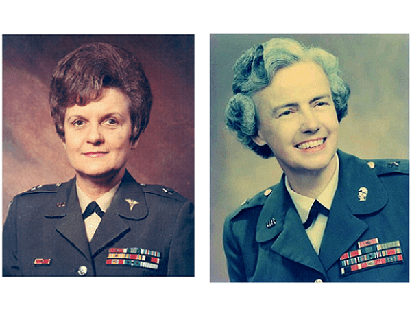 Photo: first two women generals in U.S. Army history: Anna Mae Hays and Elizabeth Paschel Hoisington
