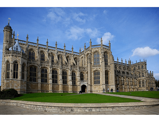 Photo: St. George's Chapel, Windsor Castle, England, site of Prince Harry and Meghan Markle's wedding. Credit: Aurelien Guichard; Wikimedia Commons.