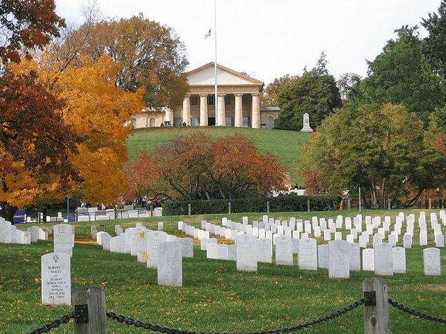 Photo: Arlington House, also known as the Robert E. Lee Memorial, in Arlington National Cemetery
