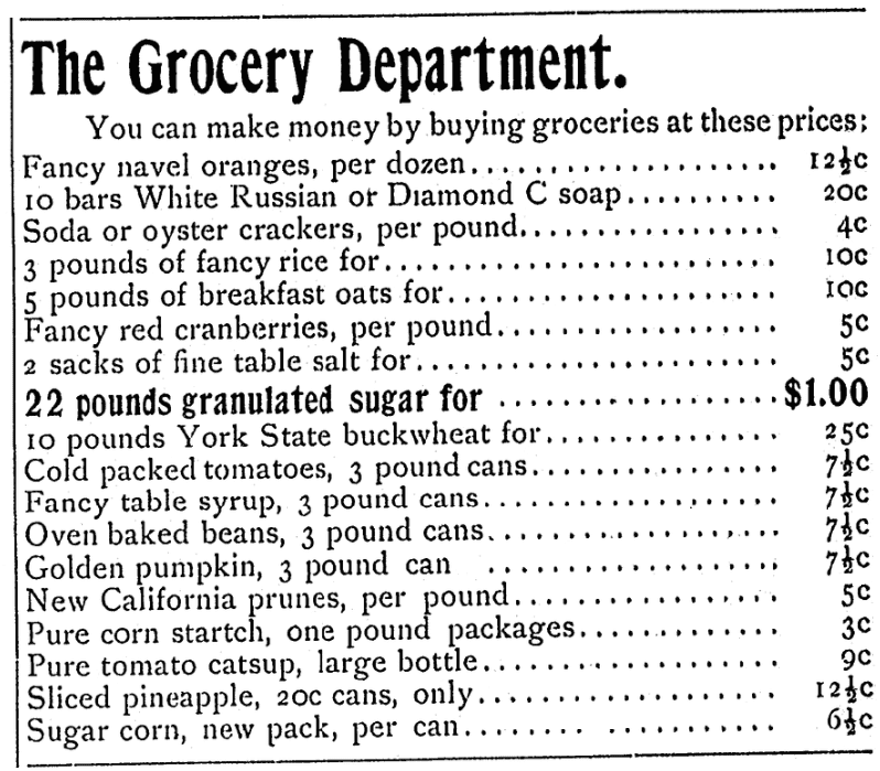 An ad for ketchup, Daily Nonpareil newspaper advertisement 7 January 1900