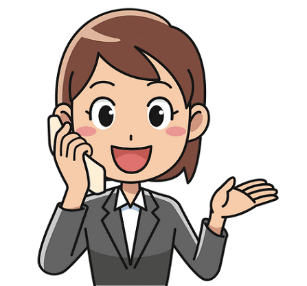 Illustration: woman talking on the phone