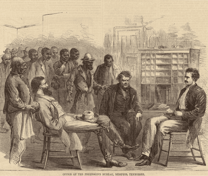 Illustration: Office of the Freedmen's Bureau, Memphis, Tennessee, 1866