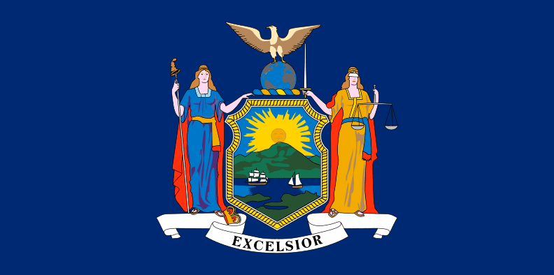 Illustration: New York state flag