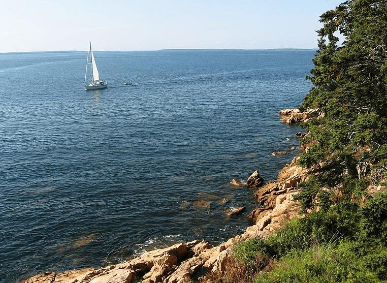 Photo: the Maine coast near Acadia National Park