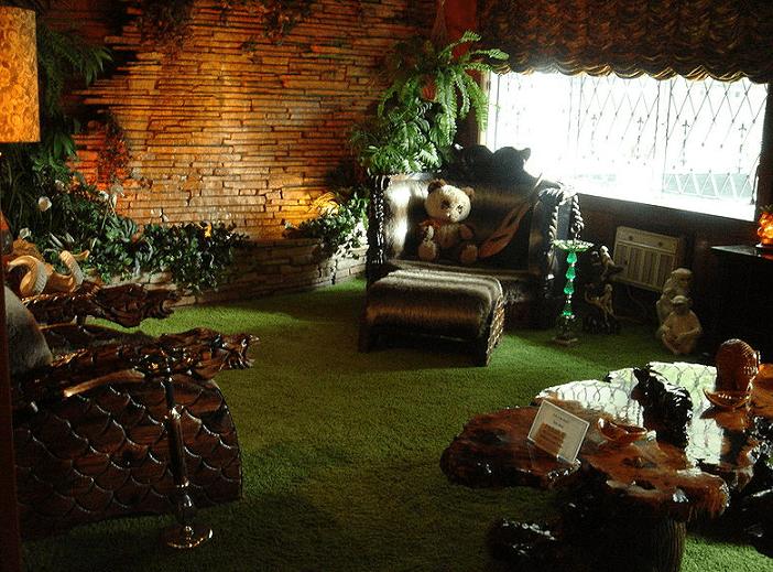"Photo: Graceland's ""jungle room"""