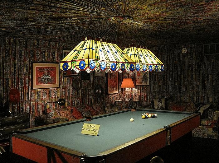 Photo: Graceland's pool room