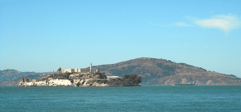 Photo: Alcatraz, with Angel Island in the background