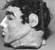 Photo: side view of dummy head found in Frank Morris' cell