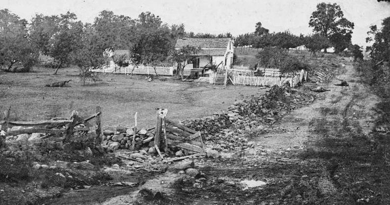 Photo: General George Meade's headquarters on Cemetery Ridge, Gettysburg, Pennsylvania, July 1863