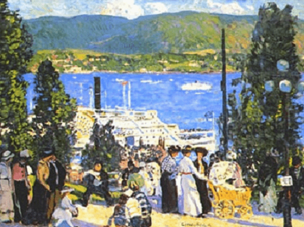 "Painting: ""The Albany Boat,"" by Gifford Beal, 1915"