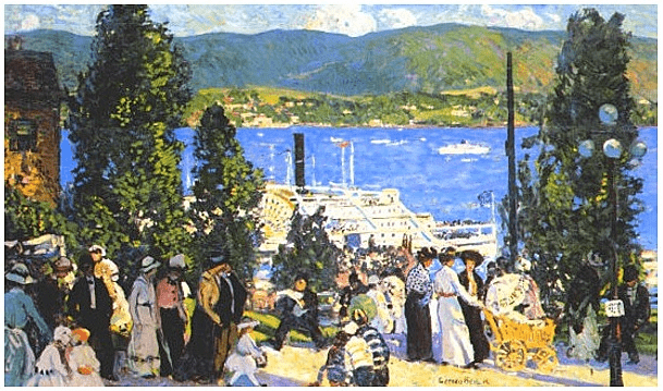 "Illustration: ""The Albany Boat,"" by Gifford Beal, 1915"