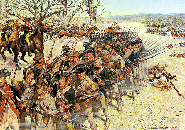 Illustration: Battle of Guilford Court House (15 March 1781), by H. Charles McBarron