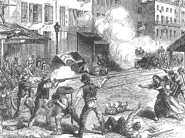 Illustration: the Civil War-era Draft Riots in New York City, 13-16 July 1863
