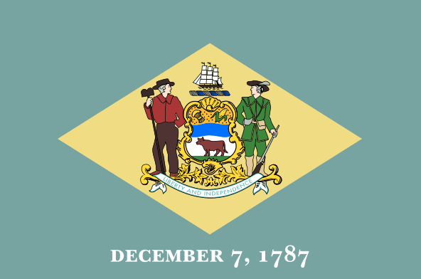 Illustration: Delaware state flag