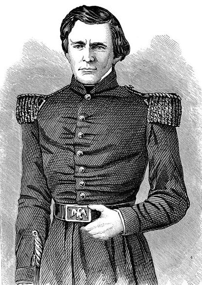 Illustration: engraving of Brevet Second Lieutenant Ulysses S. Grant in 1843
