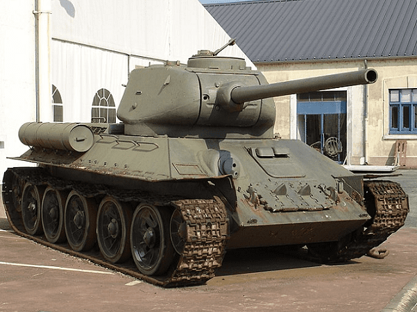 Photo: a T-34-85 tank on display at Musée des Blindés in Saumur, France. Credit: Antonov14; Wikimedia Commons.