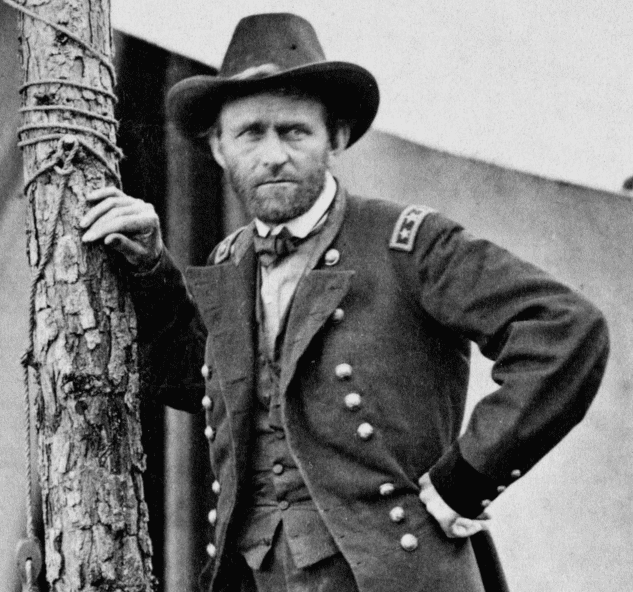 Photo: Commanding General Ulysses Grant at the Battle of Cold Harbor in 1864