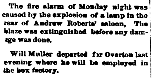 Personal notices, Carson Daily Appeal newspaper article 1 January 1900
