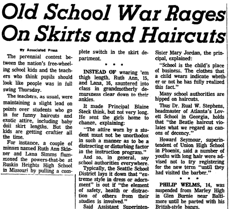 Back to School: Dress Codes from the Past
