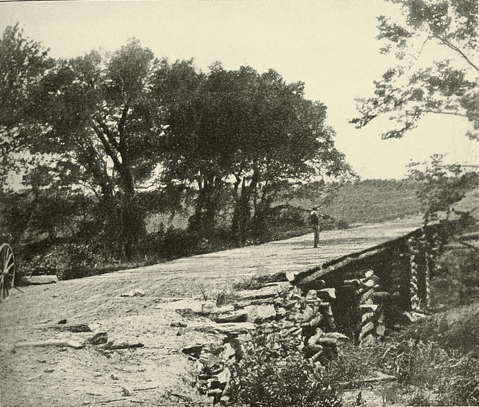 Photo: the Stone Bridge across Bull Run, crossed by the Union troops retreating to Centreville