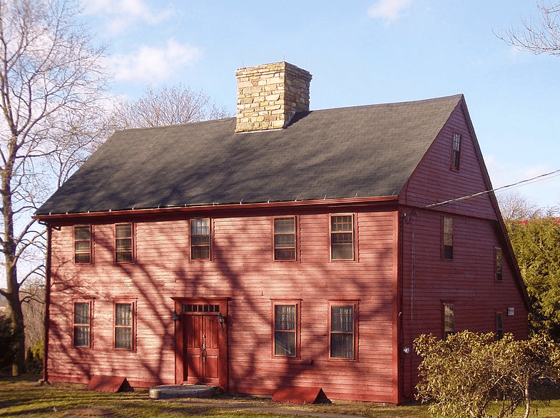 Photo: Nehemiah Royce House, Wallingford, Connecticut. Built 1672; the oldest house in Wallingford.