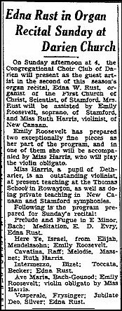 An article about Edna Rust, Daily Advocate newspaper article 12 February 1932
