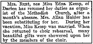 An article about Edna Rust, Daily Advocate newspaper article 10 November 1913