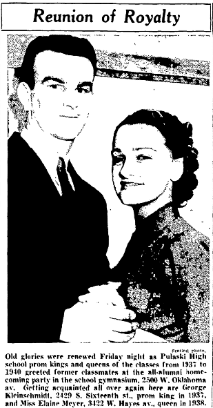 An article about homecoming, Milwaukee Sentinel newspaper article 14 December 1940