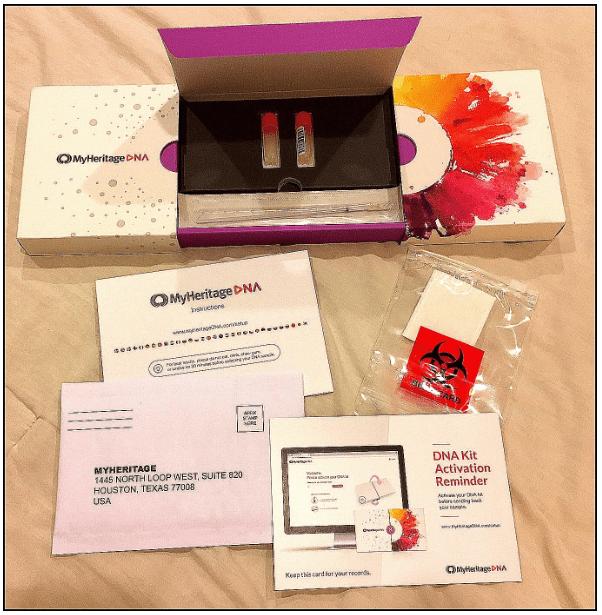 Photo: MyHeritage DNA test kit