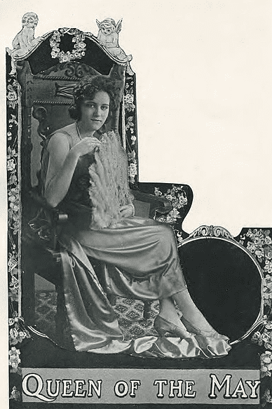 """Photo: """"Queen of the May"""" at East Texas State Normal College in 1921, a predecessor of the modern homecoming queen"""