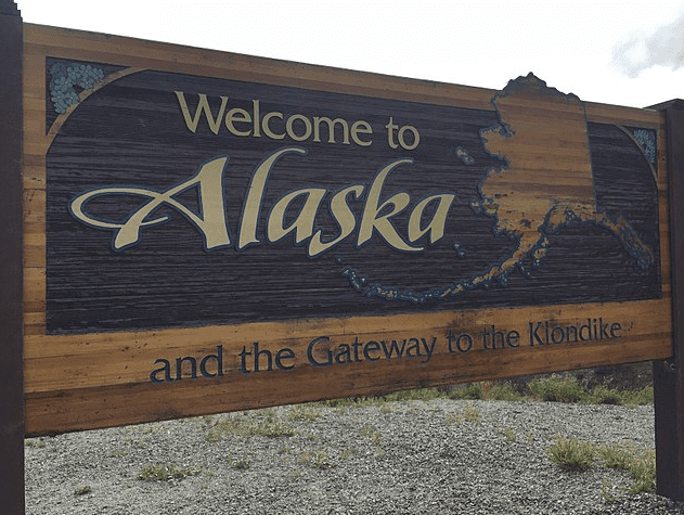 Photo: Alaska welcome sign