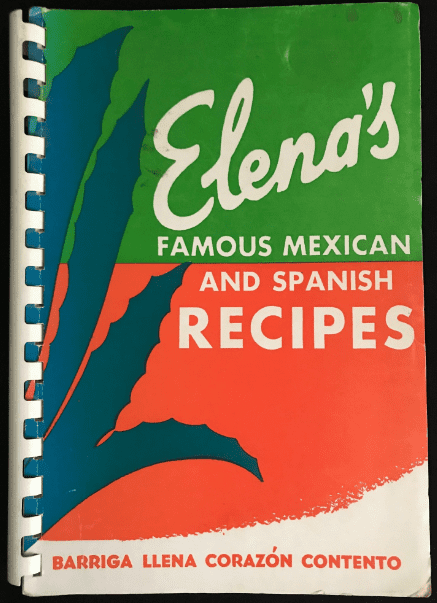 """Photo: cover of """"Elena's Famous Mexican and Spanish Recipes"""" cookbook"""