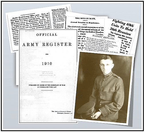 Montage: Army Registers from GenealogyBank