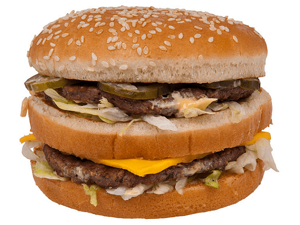 Photo: a McDonald's Big Mac hamburger. Credit: Evan-Amos; Wikimedia Commons.