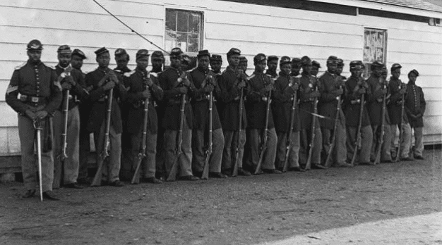 Photo: Company I of the 36th Colored Regiment during the Civil War
