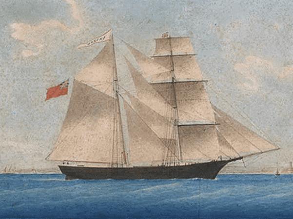 "Illustration: the sailing ship ""Mary Celeste"""