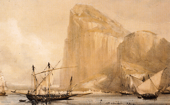 Illustration: Rock of Gibraltar, c. 1810