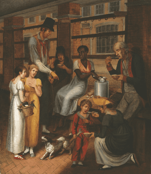 "Illustration: ""Pepper-Pot: A Scene in the Philadelphia Market"" by John Lewis Krimmel, 1811"