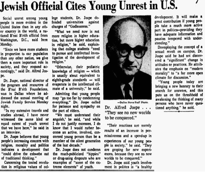 """An article about the first """"Human Be-In"""" in San Francisco's Golden Gate Park, Dallas Morning News newspaper article 7 February 1967"""