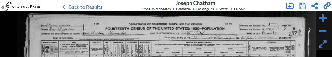 A screenshot of GenealogyBank showing how to access the U.S. Federal Census